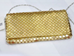 Golden Crystal Copper Clutch Purse for Ladies