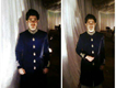 Black velvet Sherwani with black velvet khusaa