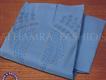 Aplic Hand Work on Pure Blue Cotton