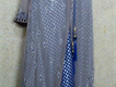 Beautiful Grey n Royal blue Angrakha style maxi  stone work on shifon inner jamawar maxi