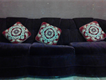 Sofa Sets and Cup Board