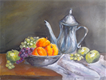 fruits and kettle