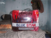 Blue star double bed blanket