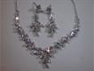 silver desigener necklace set