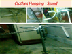 clothes hanging stand