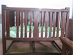 wooden baby cot with matress