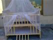 double baby cot with net