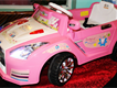 Pink Powerwheel remote control and manual car for girls