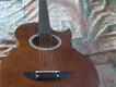 Wooden chocolate guitar