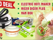 Roti Maker Machine With Mastr Sailad Cuttr In just Rs6499